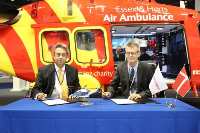 Uni-Fly's order from Leonardo marks the first contract for the AW169 model in Denmark as well as the first AW169s to be used to support wind farm duties in U.K.