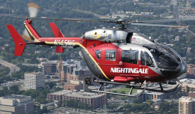 Based at Sentara Norfolk General Hospital in Virginia, the Nightingale Regional Air Ambulance program serves the Hampton Roads metropolitan area at the mouth of Chesapeake Bay. Antonio Gemma More Photo