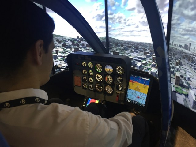 The simulator device is reconfigurable between the Bell 206 and Bell 407, but it can also be used as a generic rotary-wing training aircraft. Ryan Aerospace Photo