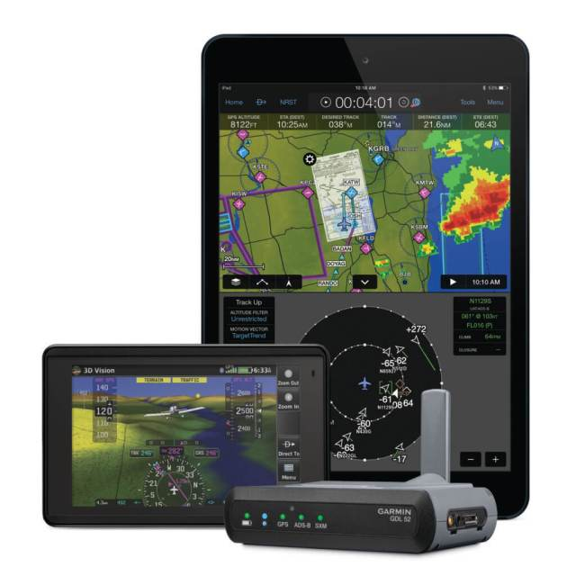 Capable of wirelessly streaming data to two devices and making hardwired connections to two additional devices simultaneously, the GDL 52 offers quick and convenient access to essential information throughout the cockpit.