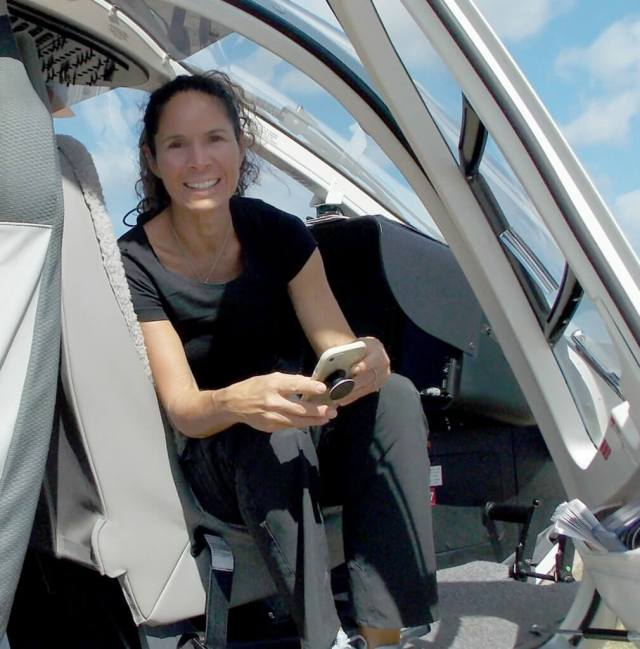 With Rodriquez's home of USVI in the path of two major hurricanes this year, she used her helicopters as soon as the storms passed to fly support missions in the Caribbean. HAI Photo