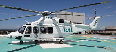 The Bankstown helicopter base houses three AW139s online 24/7 to respond to any mission in New South Wales. Toll Group Photo