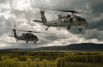 "Sikorsky contends that its HH-60U is the best choice to replace the U.S. Air Force's aging UH-1N Hueys. However, the company is also pushing back against what it perceives as Air Force ""overreach"" with respect to data rights. Sikorsky Image"