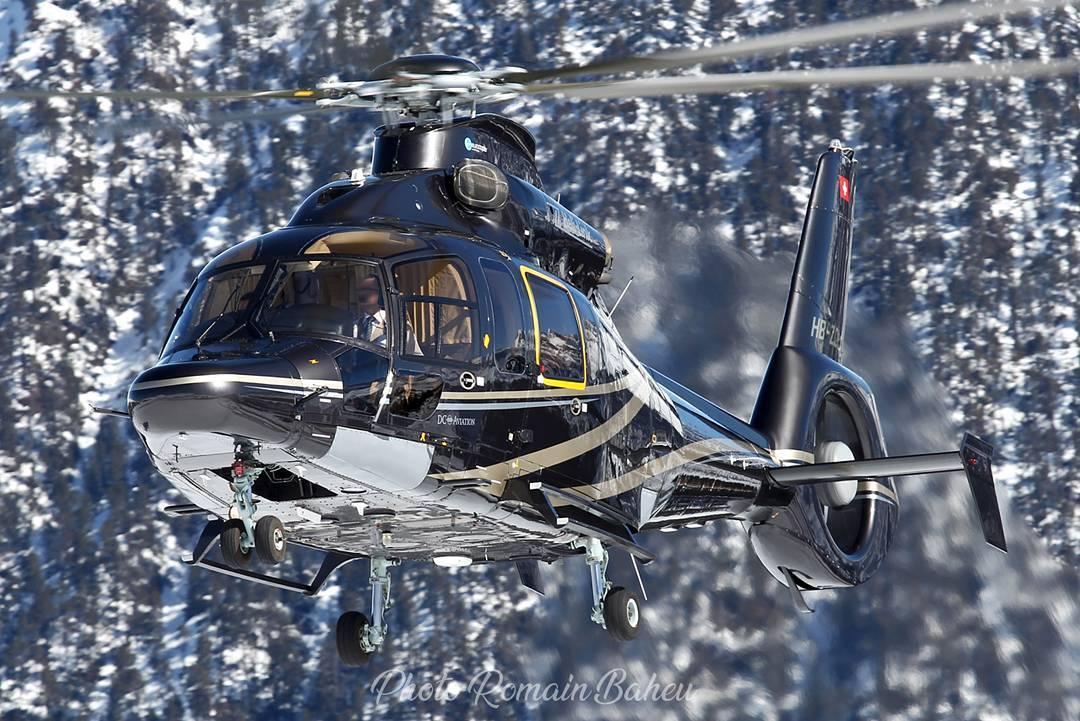 An Airbus H155 hovers among the French Alps. Photo submitted by Romain Baheu (Instagram user @helicos_courchevel) using #verticalmag