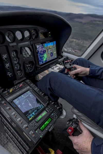 The GFC 600H includes stability augmentation system that provides inputs to help stabilize the helicopter while hand-flying. Garmin Photo