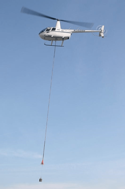 The Robinson R66 turbine cargo hook installation is rated for 1,200 pounds. Robinson Photo