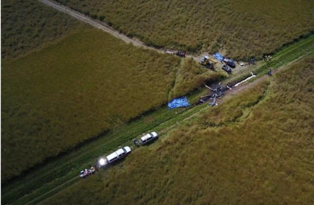 Duke Life Flight helicopter crash scene