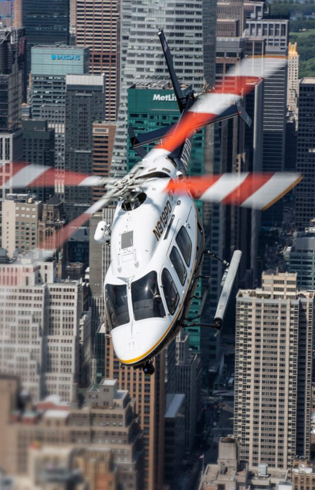 The New York Police Department's Aviation Unit covers the U.S. Coast Guard's blind spot around New York City for maritime search-and-rescue, in addition to patrolling the city.