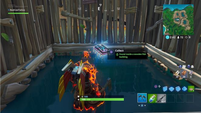 Fortnite Fortbyte Locations Guide 64 Rox On Top Of Stunt Mountain