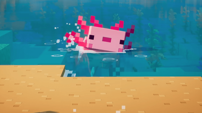 Minecraft: Axolotls   How to tame an axolotl in the Cliffs & Caves update – VG247
