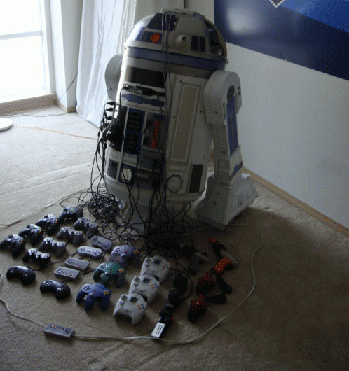 This R2D2 Droid Is Actually 8 Consoles And A Projector VG247