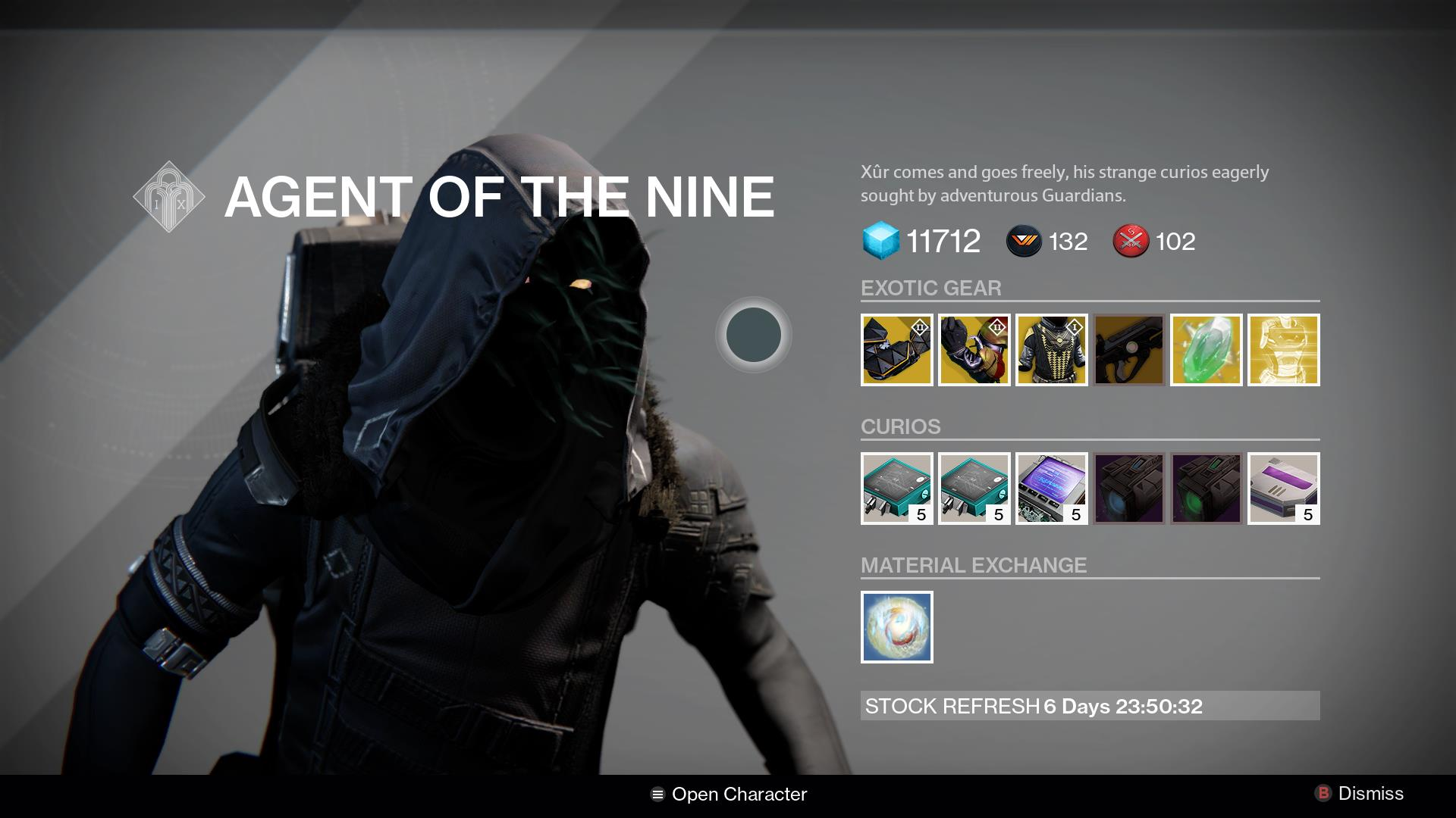 Destiny Xur Location And Inventory For June 19 20 VG247