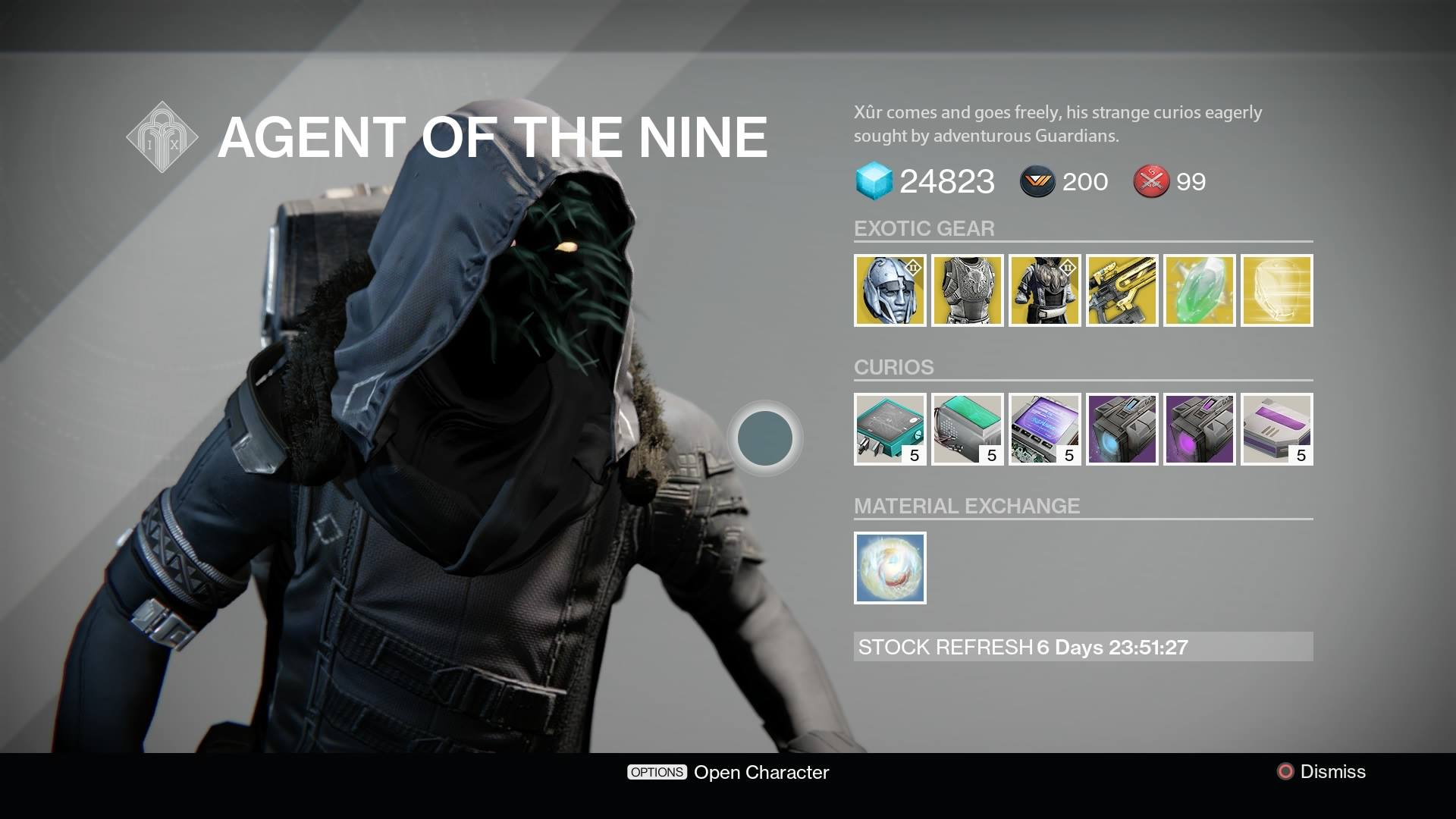 Destiny Xur Location And Inventory For July 10 11 VG247