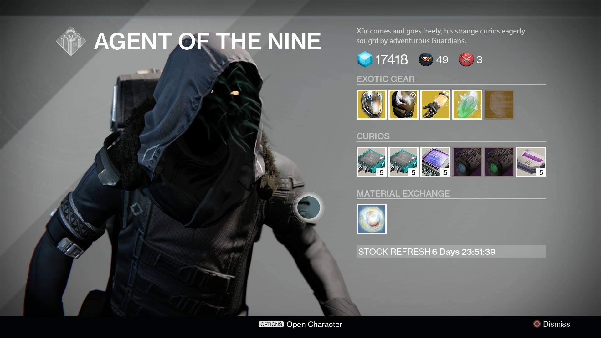 Destiny Xur Location And Inventory For July 17 18 VG247