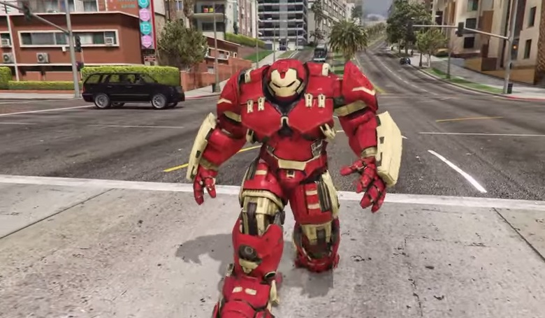Ps4, ps5, xbox one, and nintendo switch; GTA 5: Iron Man's Hulkbuster armour mod is unstoppable - VG247
