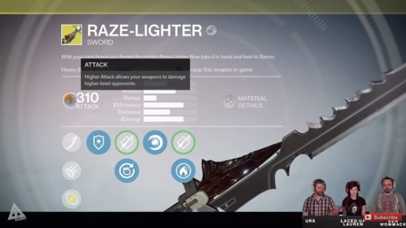 Watch Destiny The Taken Kings New Exotic Sword Perks Chop MFers Up VG247