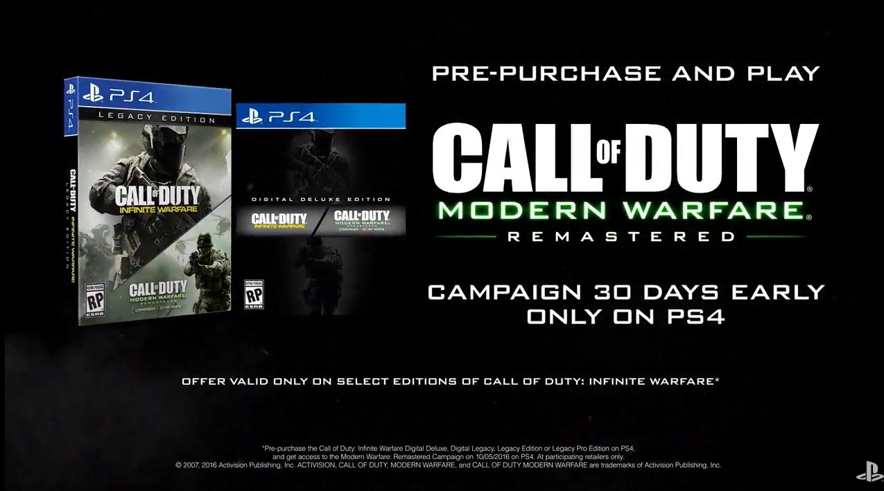 Call Of Duty Infinite Warfare PS4 Pre Order Includes