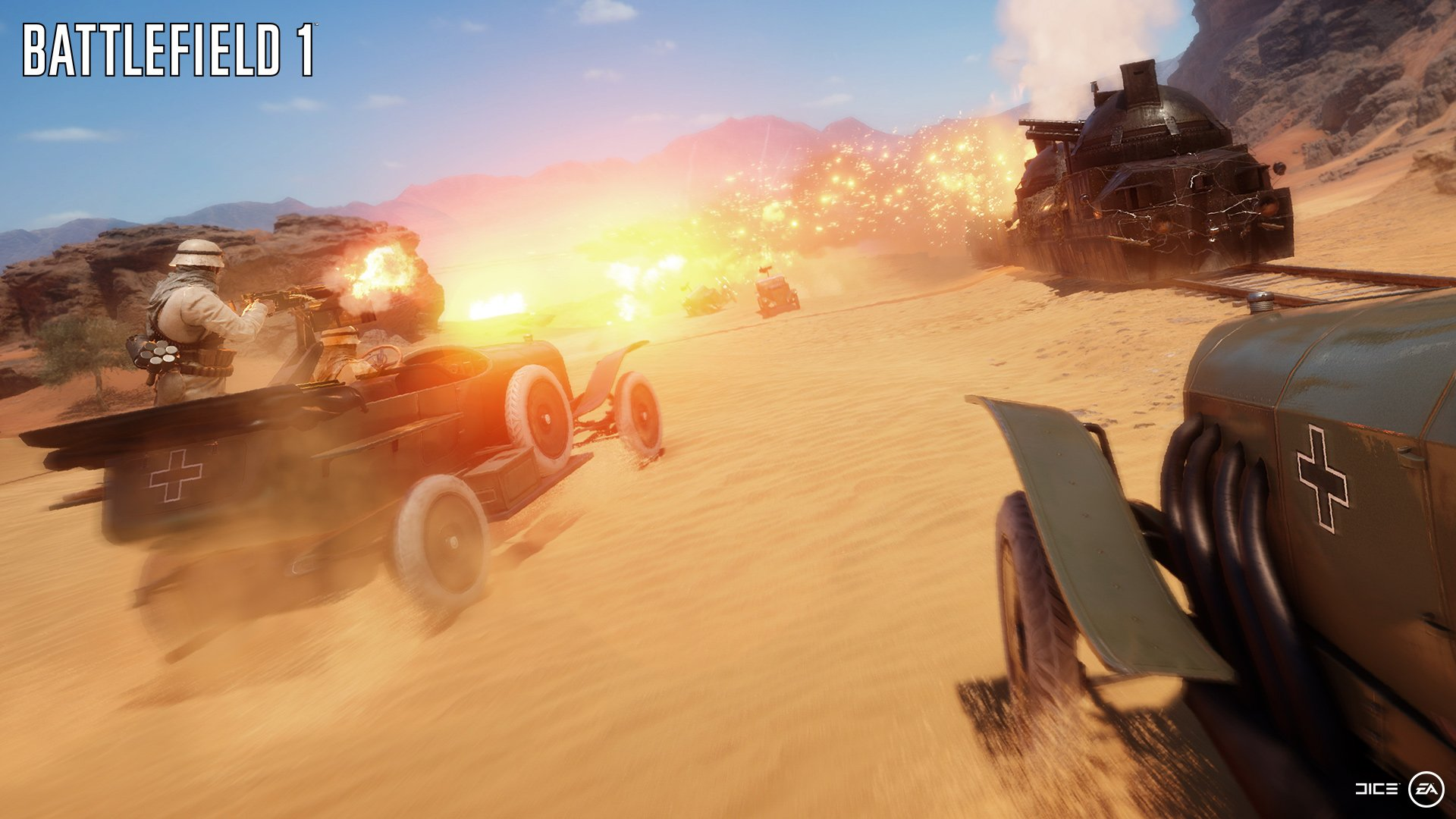 Battlefield 1 Heres A Look At 64 Player Multiplayer On The Sinai Map Shown At Gamescom 2016