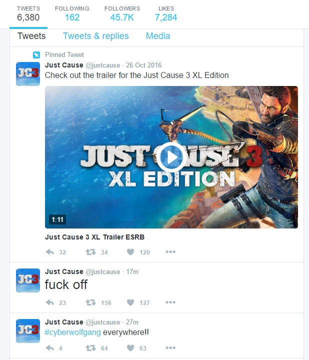 Square Enix Europes Twitter Account Hacked Tweets Boring Nonsense Then Turns Ugly UPDATE