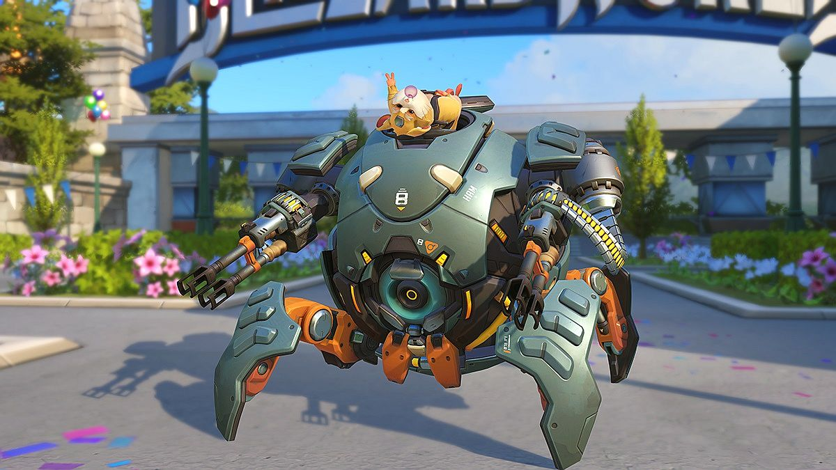 Overwatchs New Hero Wrecking Ball Is A Hamster In A Mech Ball Of Death