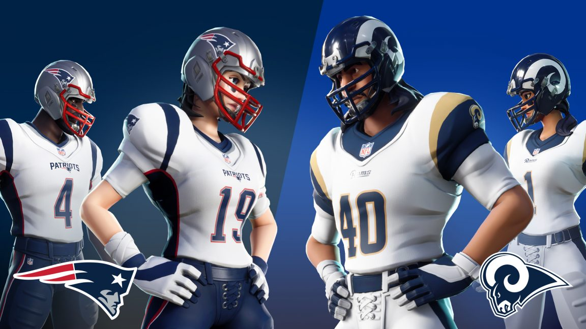Fortnite Players Can Jump Into NFL Rumble LTM This Weekend With LA Rams Or Patriots Jerseys