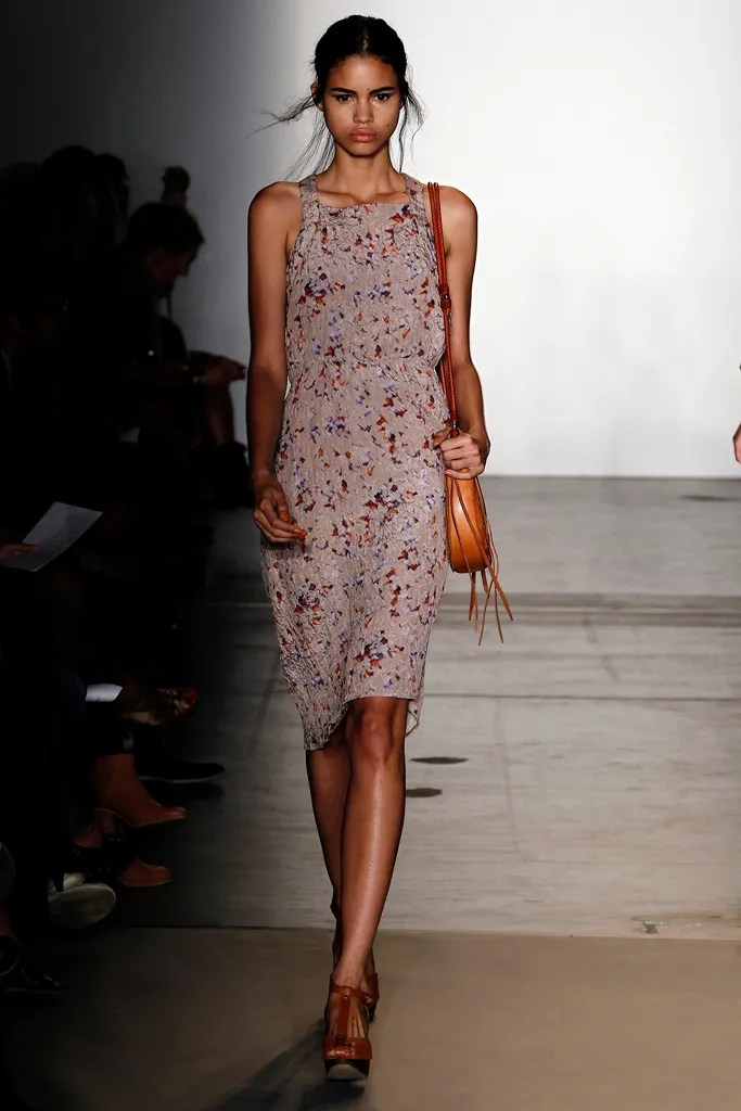Mariana Santana wears Rachel Comey's Tippet dress on the Spring 2011 runway