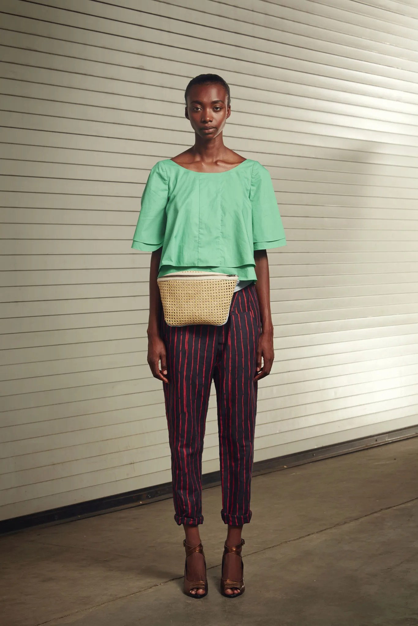 Rachel Comey's Bowtie top and pants, Spring 2015