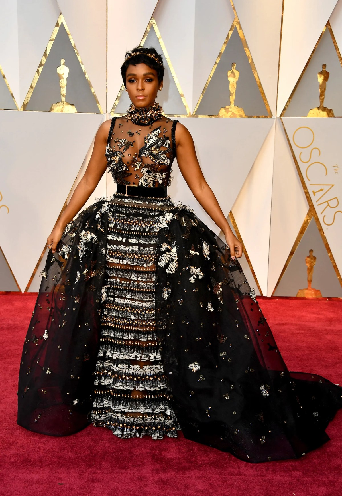 Image result for janelle monae oscars dress