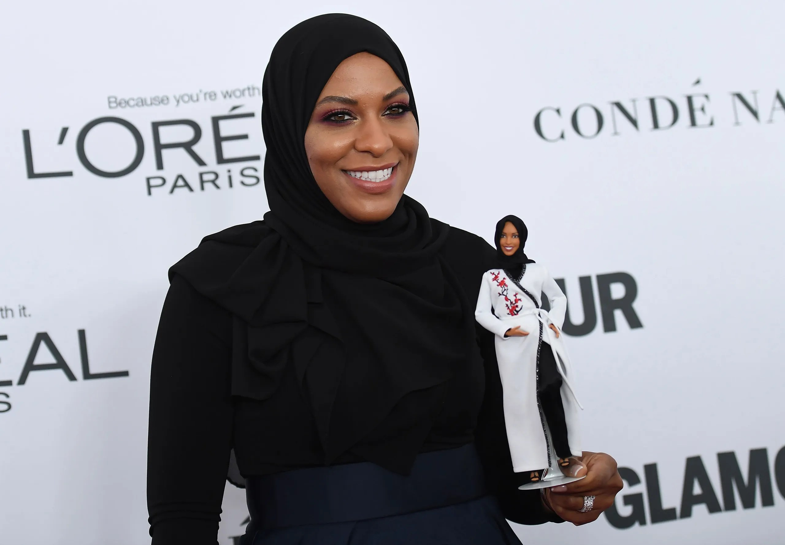 Includes doll, doll stand for display and certificate of authenticity. A Barbie Inspired By Ibtihaj Muhammad Gets An Athletic Frame And Hijab Vogue