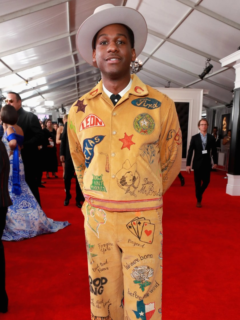 Image result for leon bridges grammy 2019 outfit