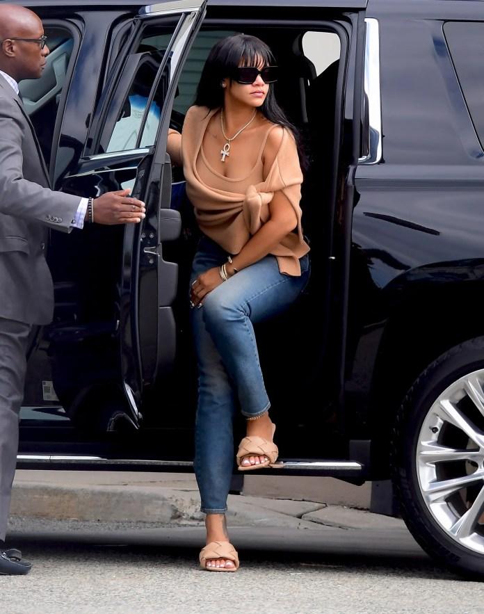 Rihanna Revives the Sweater Set