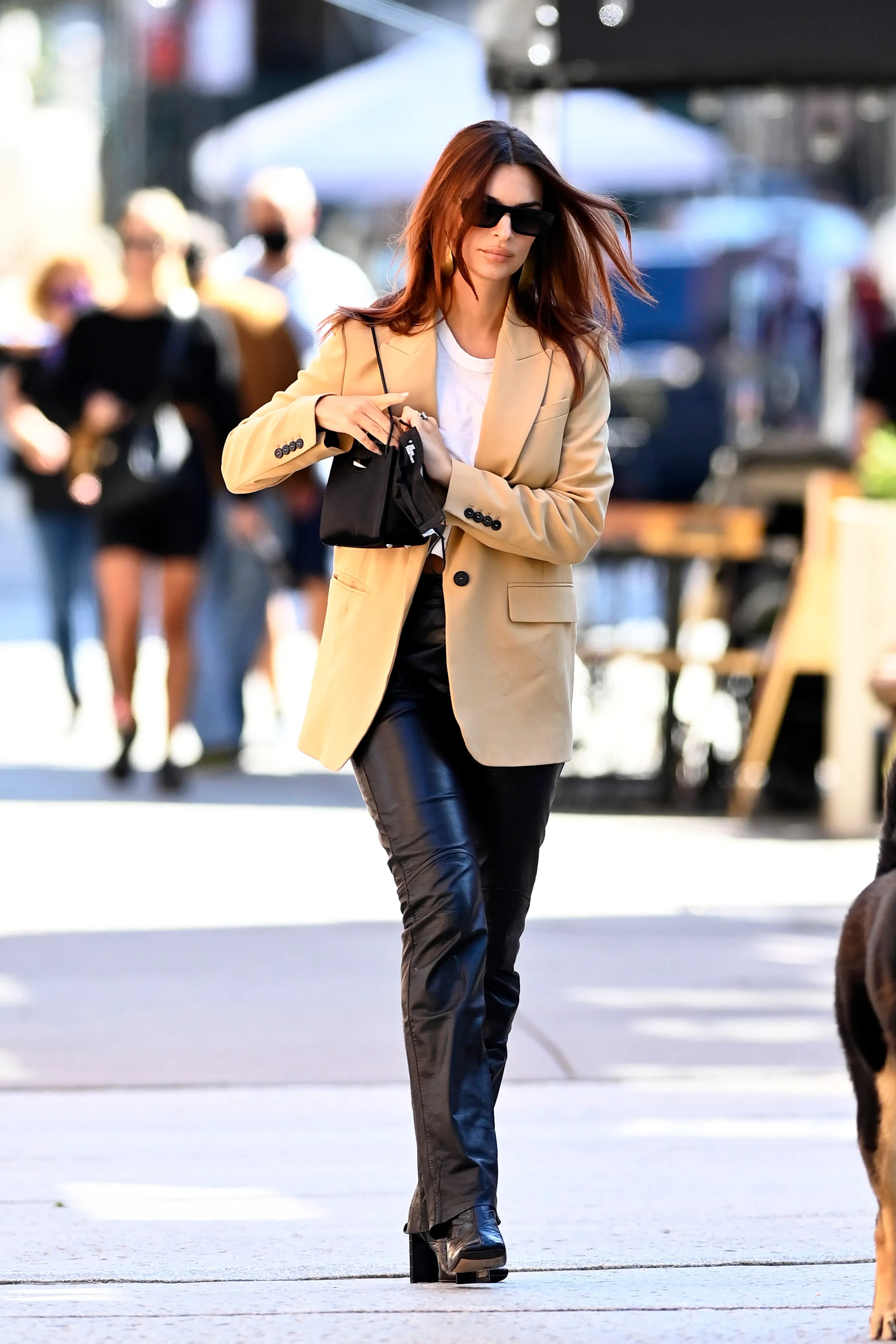 wear leather pants this fall vogue