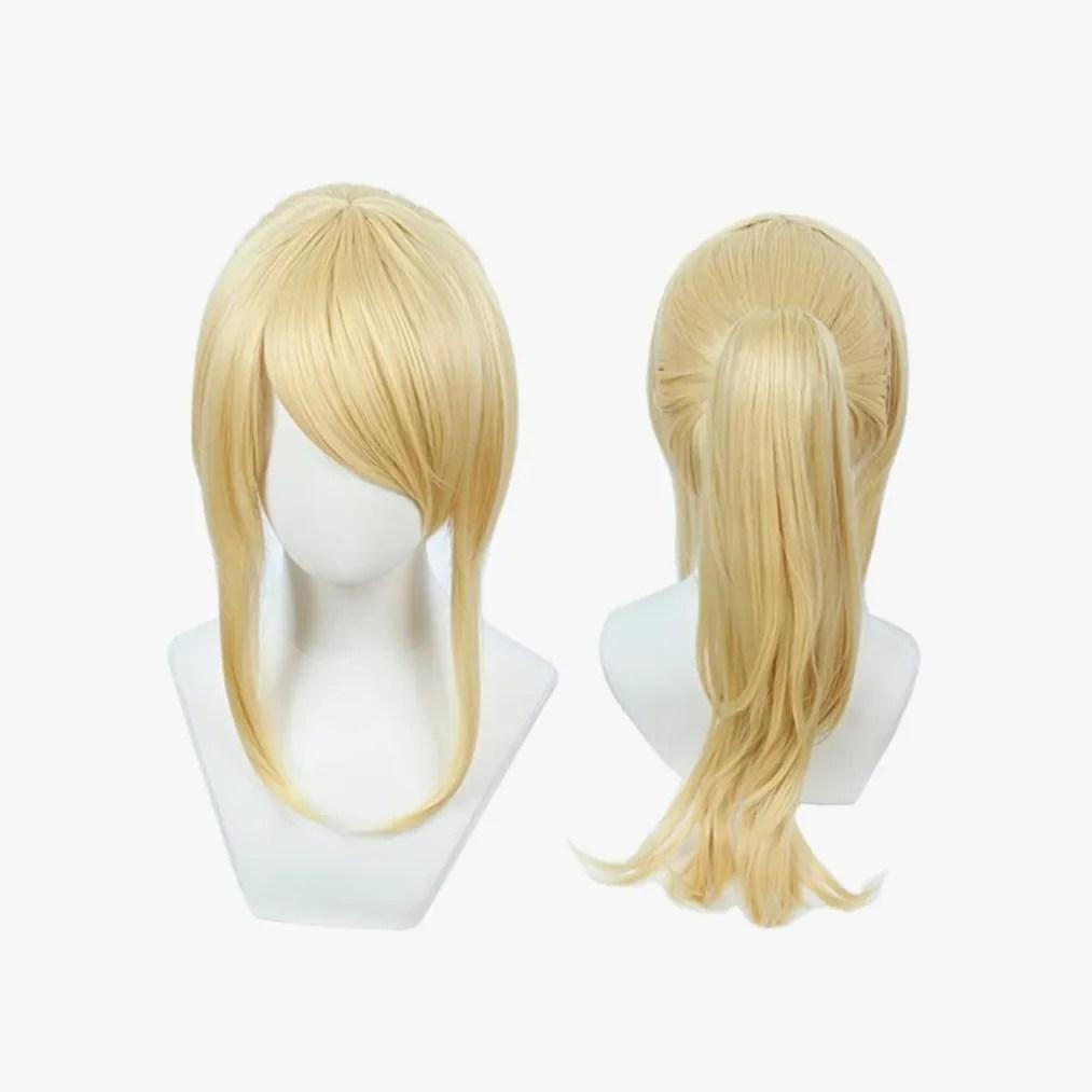 Image may contain: Hair, and Wig