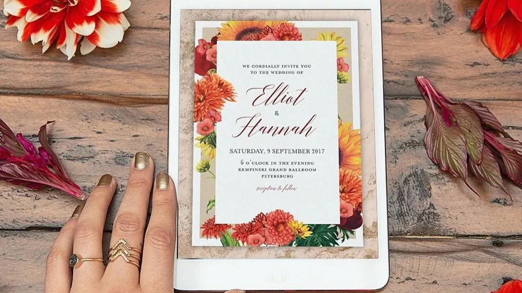 digital wedding invitation card eco