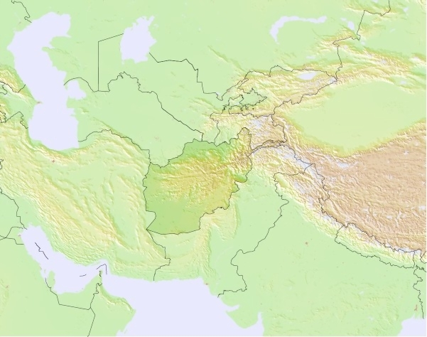 Afghanistan Weather Map
