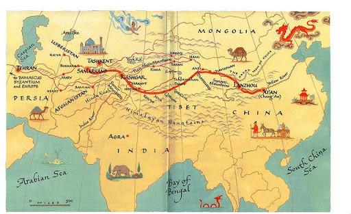 Ancient silk roads
