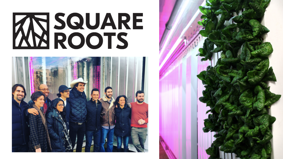 Kimbal Musk alongside Square Roots students