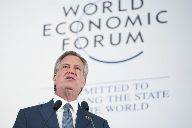 Bill de Blasio speaks at Building Sustainable Markets at The World Economic Forum holds the Sustainable Development Impact Summit 2018 in New York, NY USA. Copyright by World Economic Forum / Ben Hider