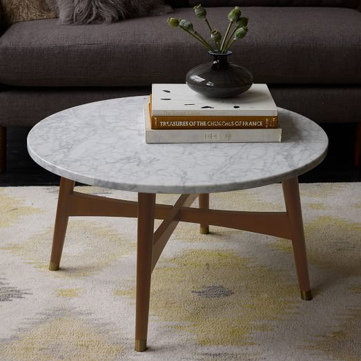 reeve mid century coffee table marble