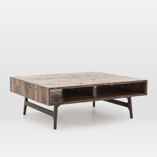modern reclaimed oak coffee table