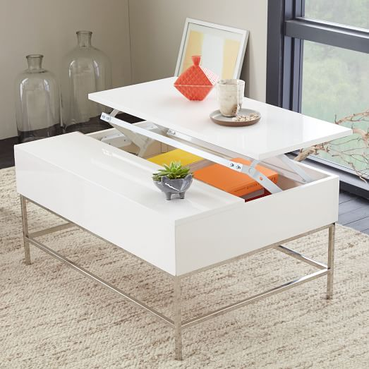 lacquer storage coffee table