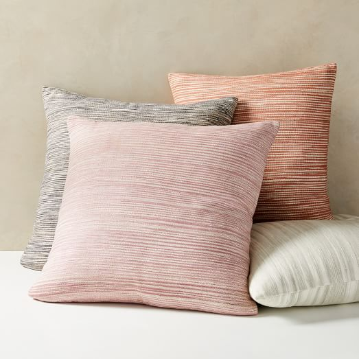 silk ombre striations pillow covers