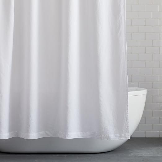 european flax linen shower curtain