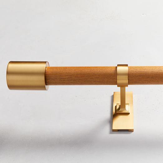 mid century rod wood brass