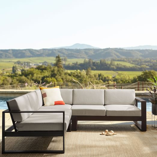 portside 3 piece l shaped sectional outdoor furniture covers
