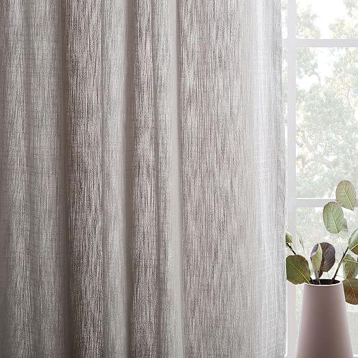 textured cotton jacquard curtain platinum