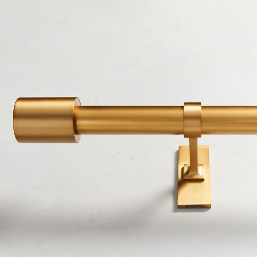 oversized adjustable metal rod antique brass