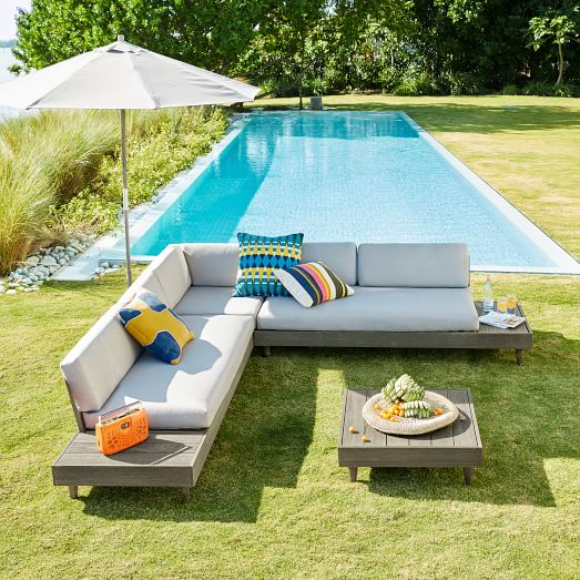 portside outdoor low 3 piece l shaped sectional