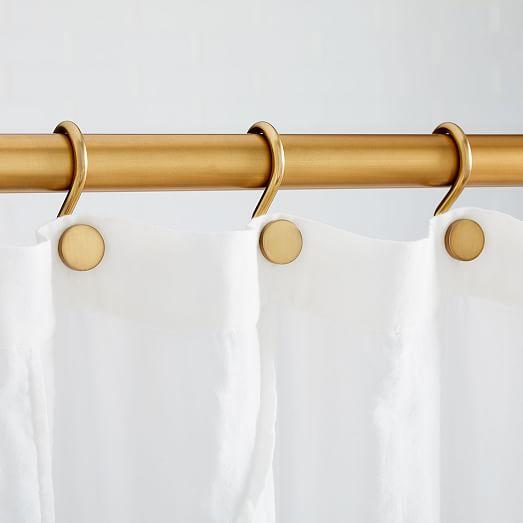 modern shower curtain rings set of 12