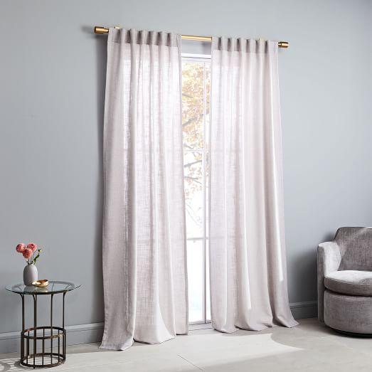 crossweave curtain dusty blush